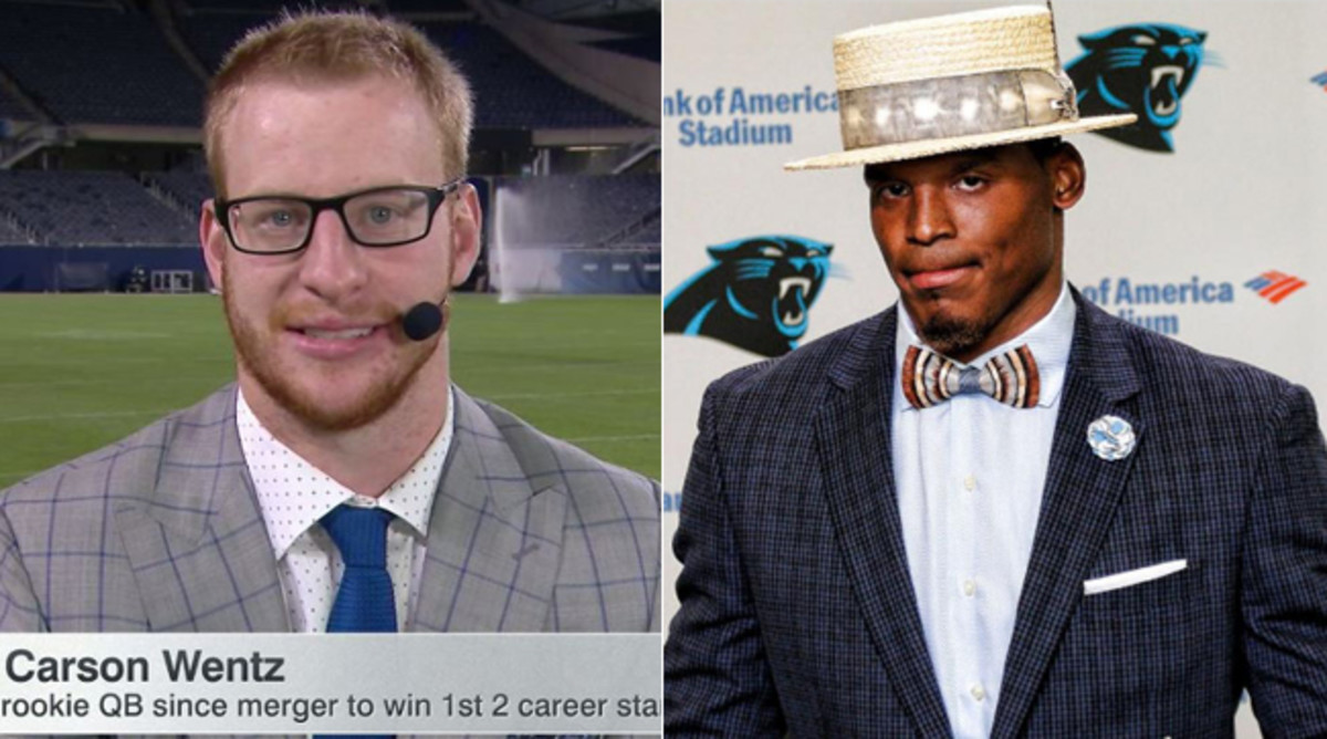 Post-game ensembles have become a focus for many of football's biggest stars.