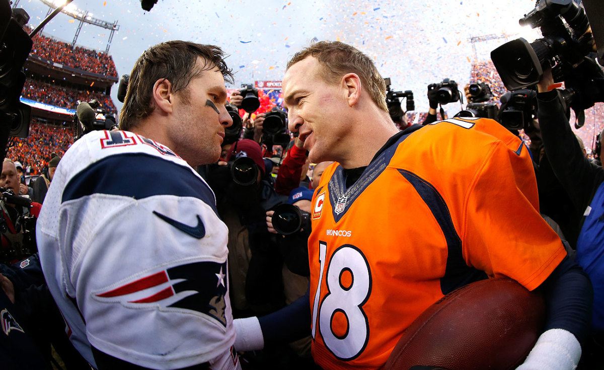 Brady owns an 11-6 all-time record against Manning but is just 1-3 in AFC title games against him.