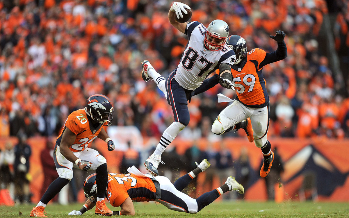 Rob Gronkowski finished with eight catches for 144 yards and a touchdown.