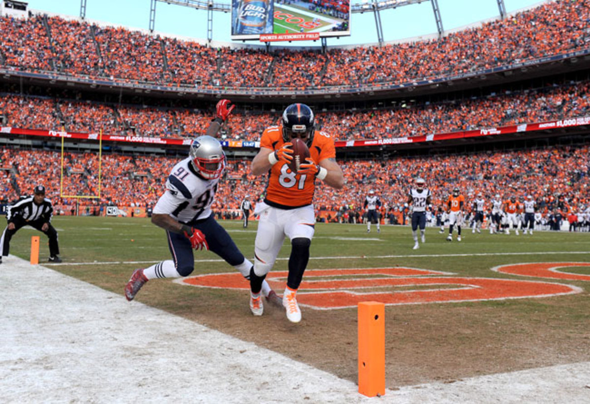 Daniels snared his second touchdown pass from Manning in the second quarter.