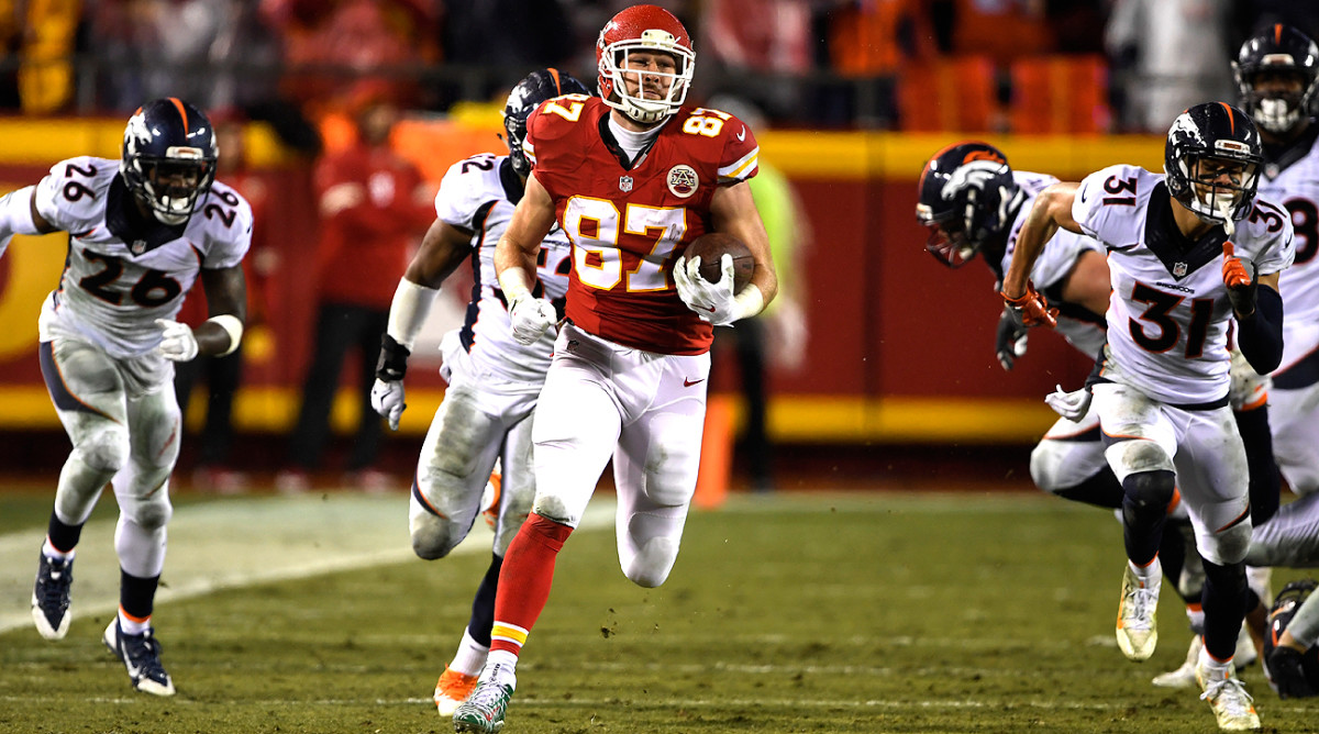 Travis Kelce and the Chiefs dominated the Broncos on Sunday night, and still have a shot at winning the AFC West in Week 17.
