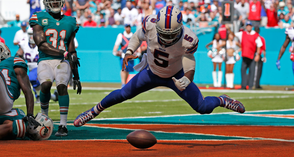 Tyrod Taylor and the Bills lost their coach after dropping six of their past nine games.