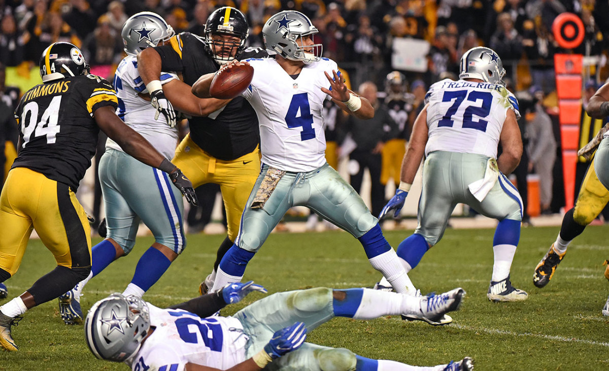 Prescott had his first NFL 300-yard game in the thriller at Pittsburgh.