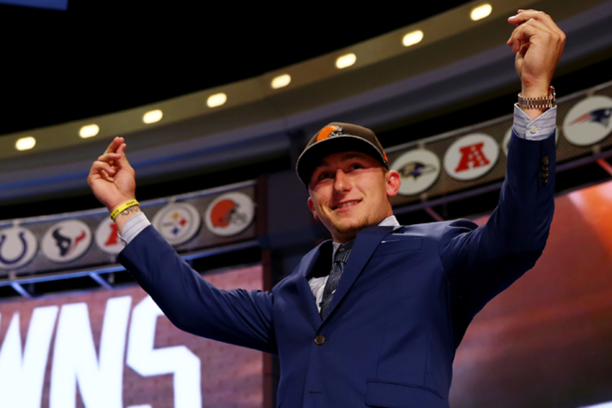 Johnny Manziel went to the Browns with the No. 22 pick in the 2014 draft.