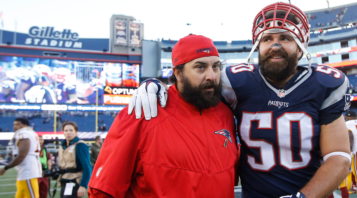 Like other Pats defenders, Ninkovich (50) went from struggling journeyman to NFL stalwart under Patricia's tutelage.