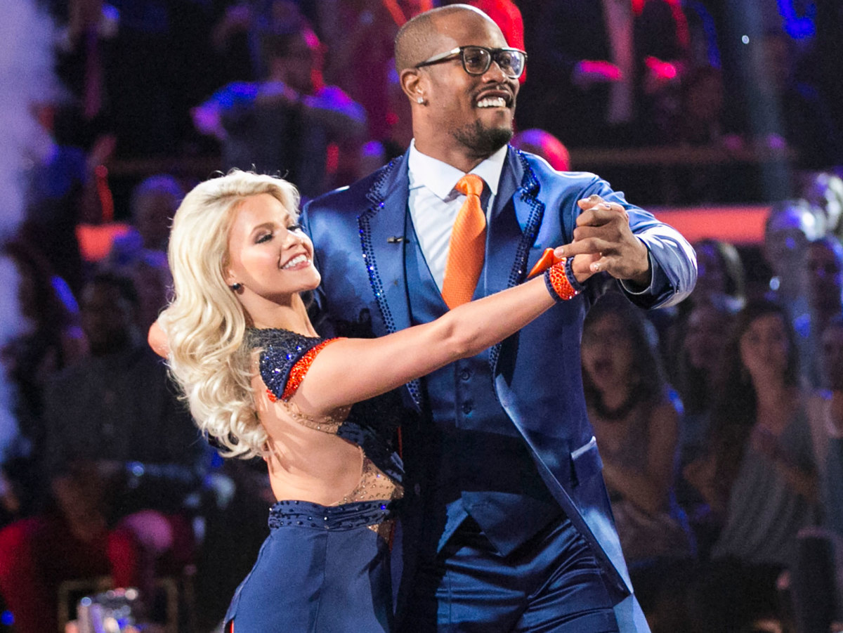 Miller performs with Dancing With The Stars partner Witney Carson.