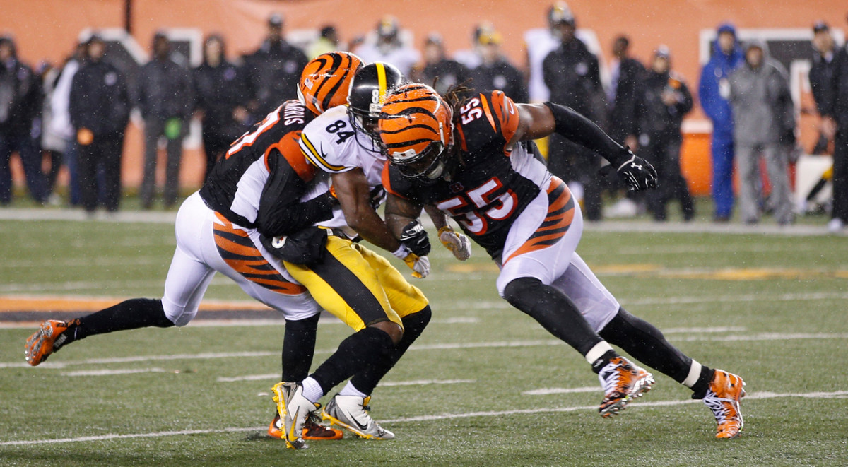 Burfict's hit on Antonio Brown led to 30 yards in penalties, which set the Steelers up for a game-winning field goal in their January playoff game.