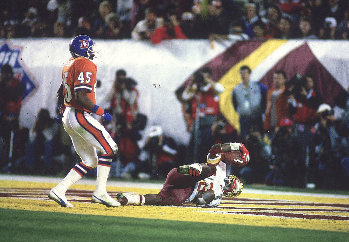 One of Smith's two scores in Washington's rout of Denver.