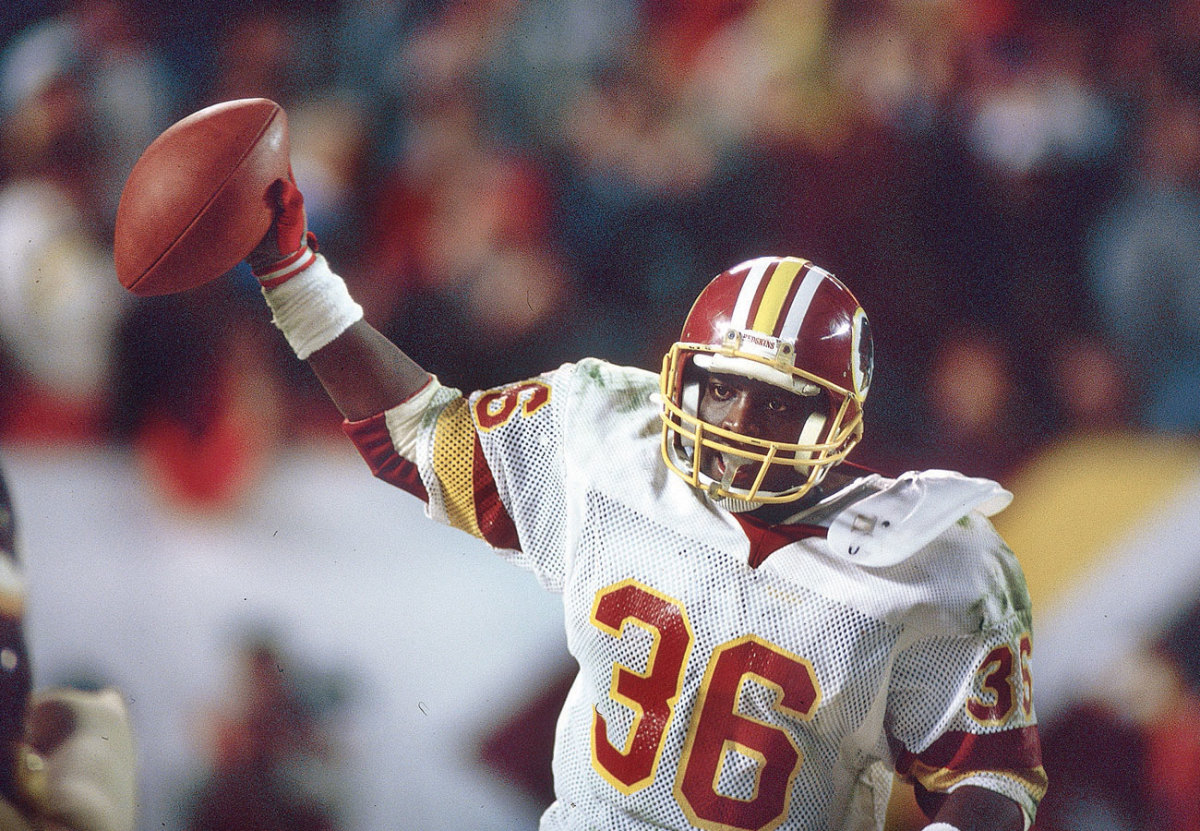 Smith scored twice in SBXXII, and would have just three more TDs in his brief career.