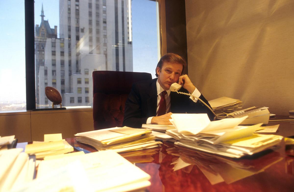Trump at work, 1984.