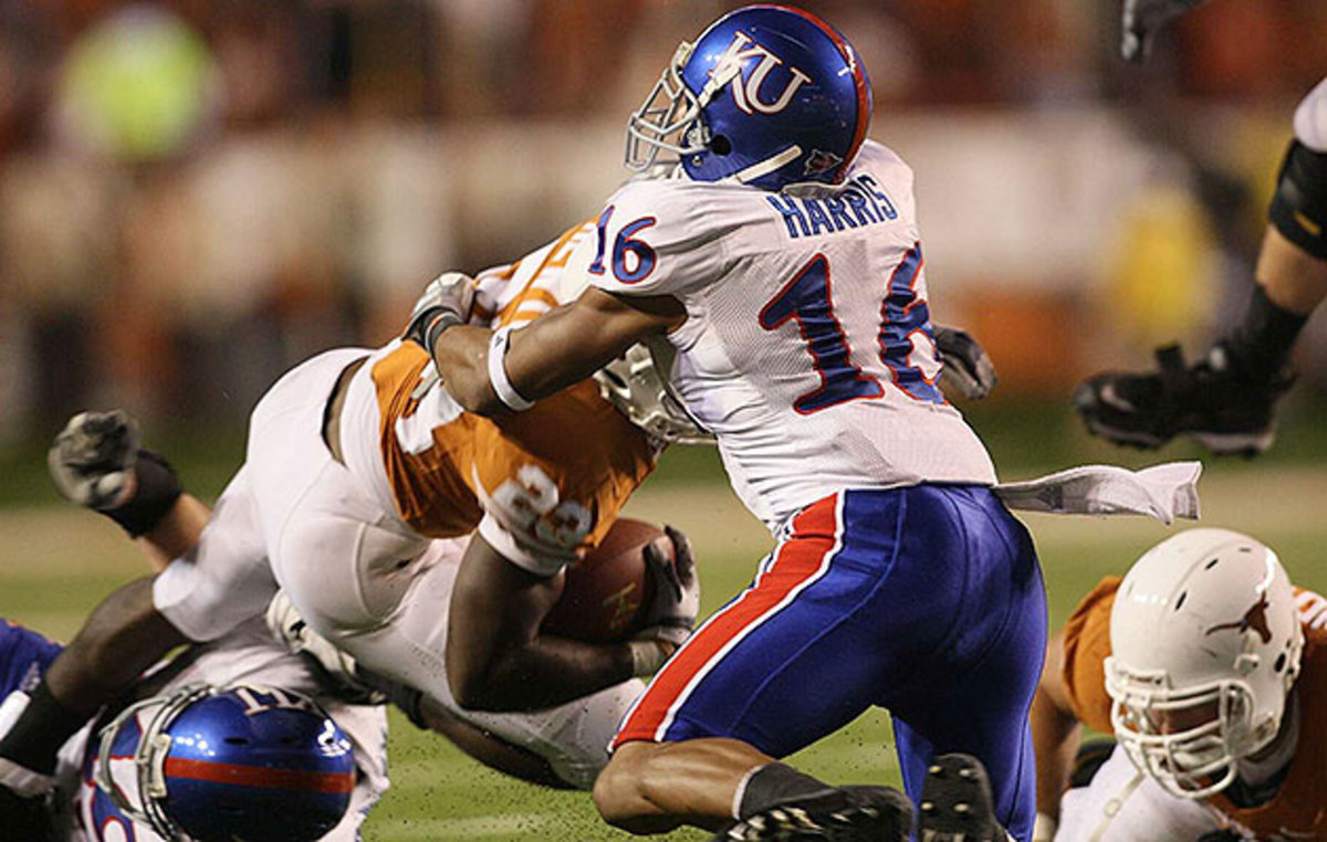 A four-year starter at Kansas, Harris was left in limbo by the lockout before he latched on with the Broncos.