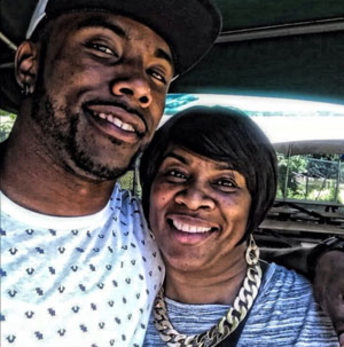 Earl Wolff and his mom, Sharon.