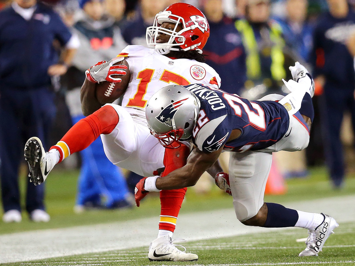 Down two scores with 6:29 left in their divisional round game against New England, the Chiefs wasted precious time inching down the field.