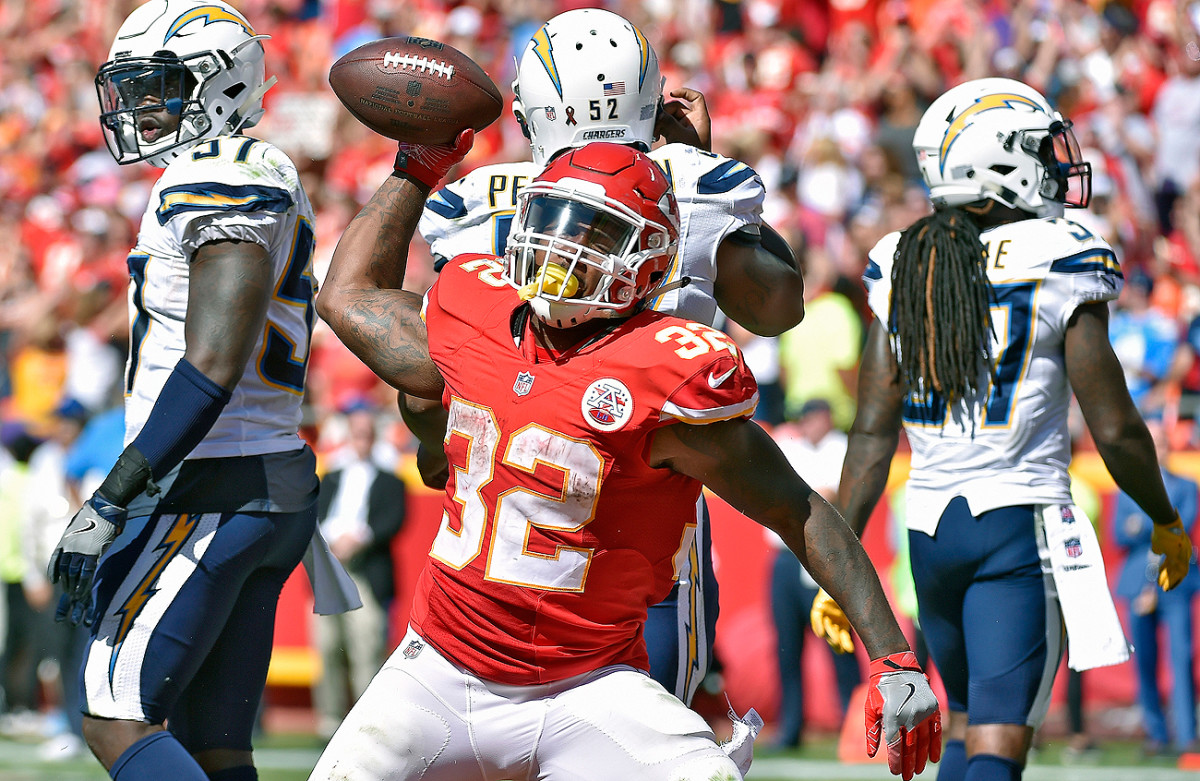 Spencer Ware and the Chiefs overcame a 24-3 deficit to beat the Chargers in overtime.