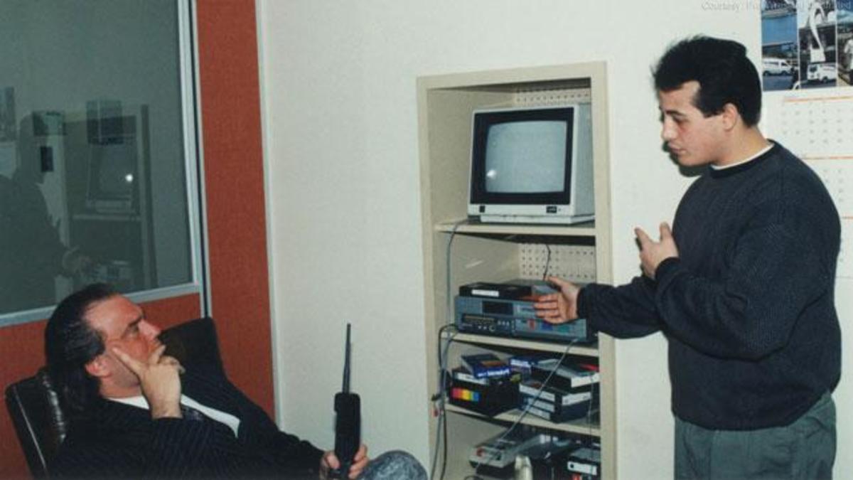 Joey Styles meet Paul Heyman as a PWI intern in 1992_courtesy Joey Styles.jpg