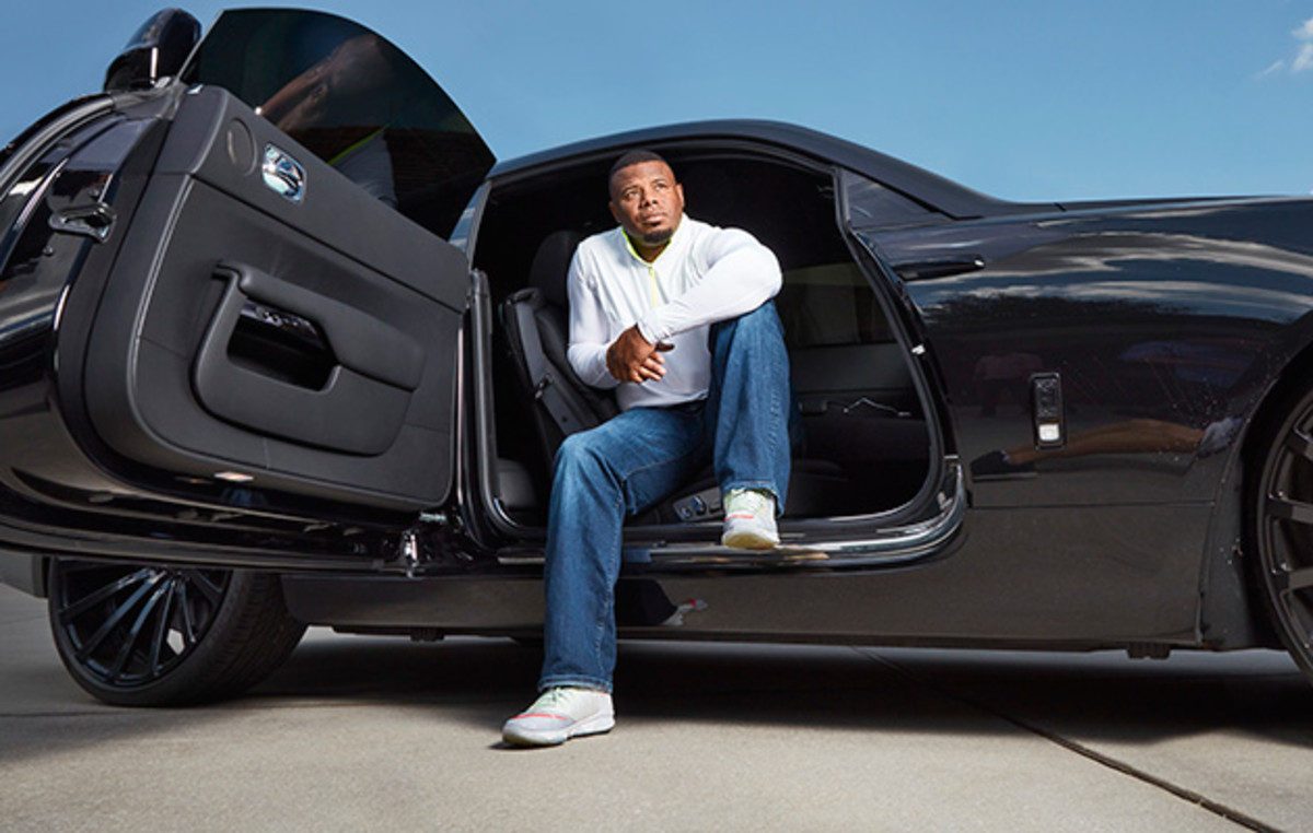At home in Florida, Griffey takes pride in the contents of his 10-car garage.