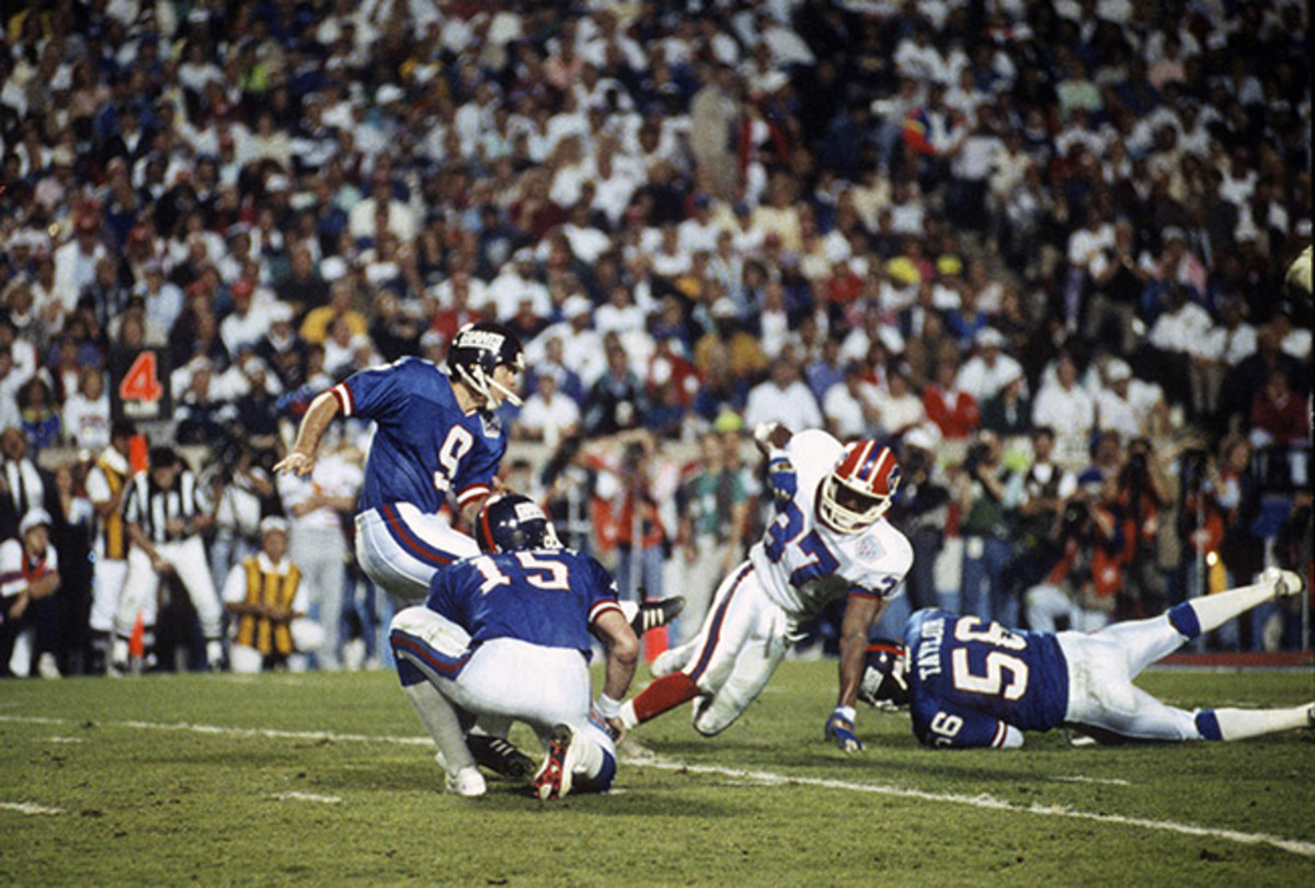 Before Scott Norwood's miss, Matt Bahr provided the winning points of Super Bowl XXV.