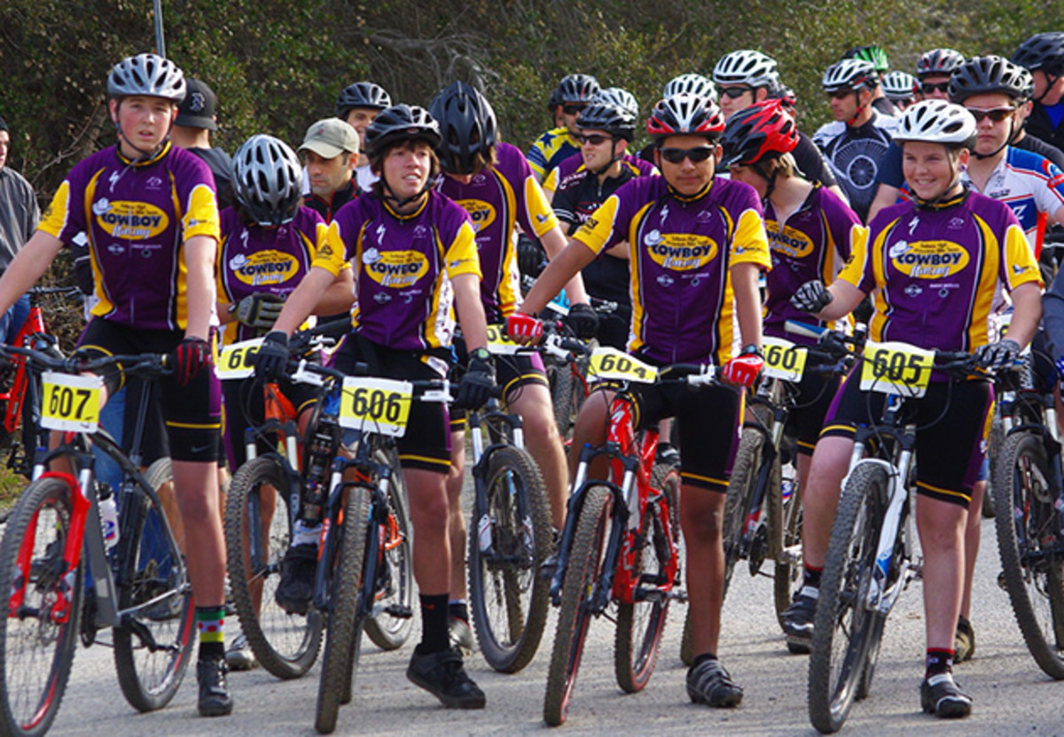 inline KC with other Cowboys at the start of a Central Coast Cyclocross race 2013.jpg