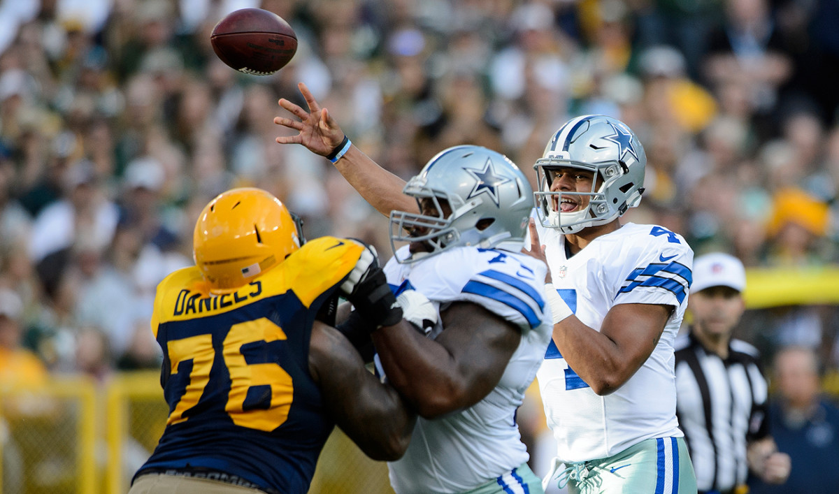 A strong supporting cast, including a deep offensive line group, has helped Dak Prescott have early success with the Cowboys.
