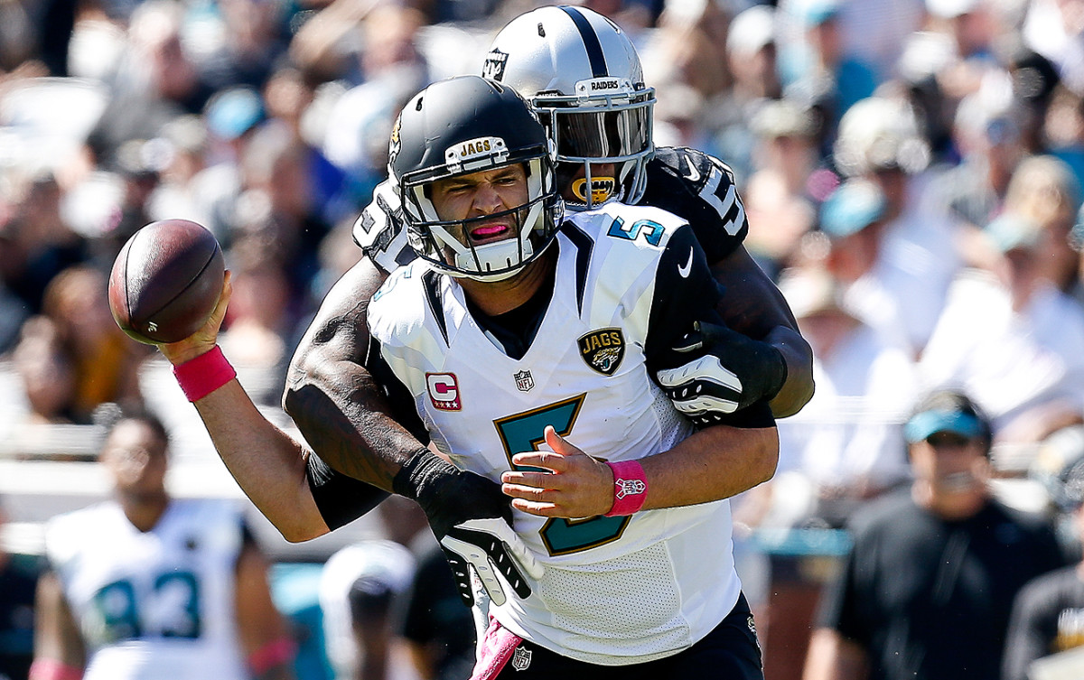 Blake Bortles and the Jaguars are 2-4 and in last place in the AFC South.