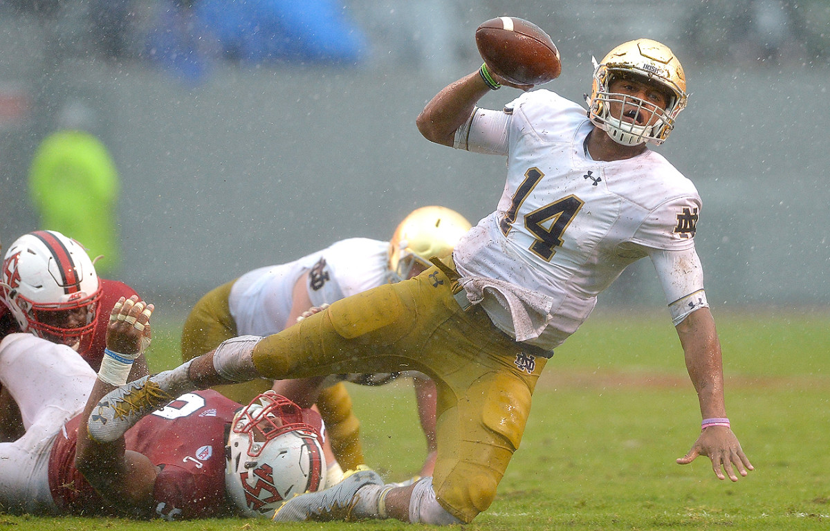It's been a forgettable season at Notre Dame, but quarterback DeShone Kizer still has caught the eye of NFL scouts.