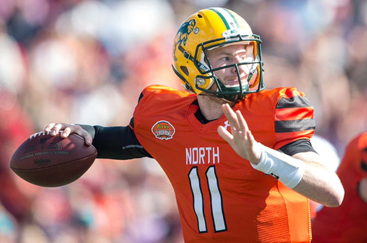 Carson Wentz has a chance to build off the momentum from Senior Bowl week.