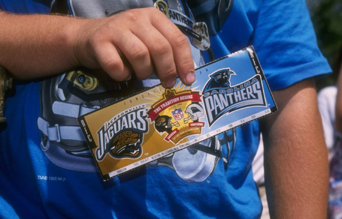 A ticket to the big game! Panthers-Jags in Canton, 1995.