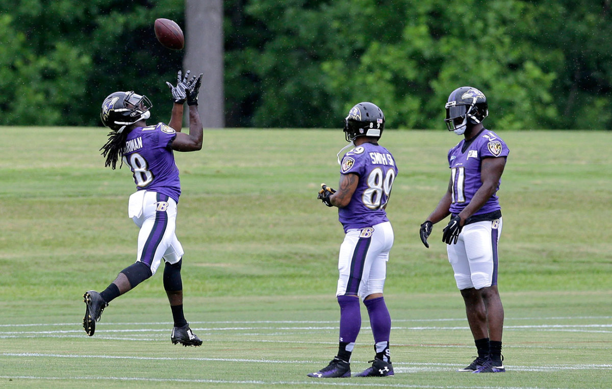 At 2015 minicamp, the rookie worked out in front of veterans Steve Smith Sr. and Kamar Aiken.