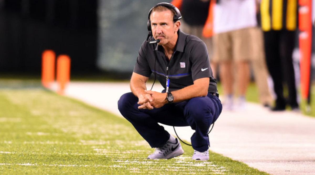 The New York Giants defensive coordinator Steve Spagnuolo.