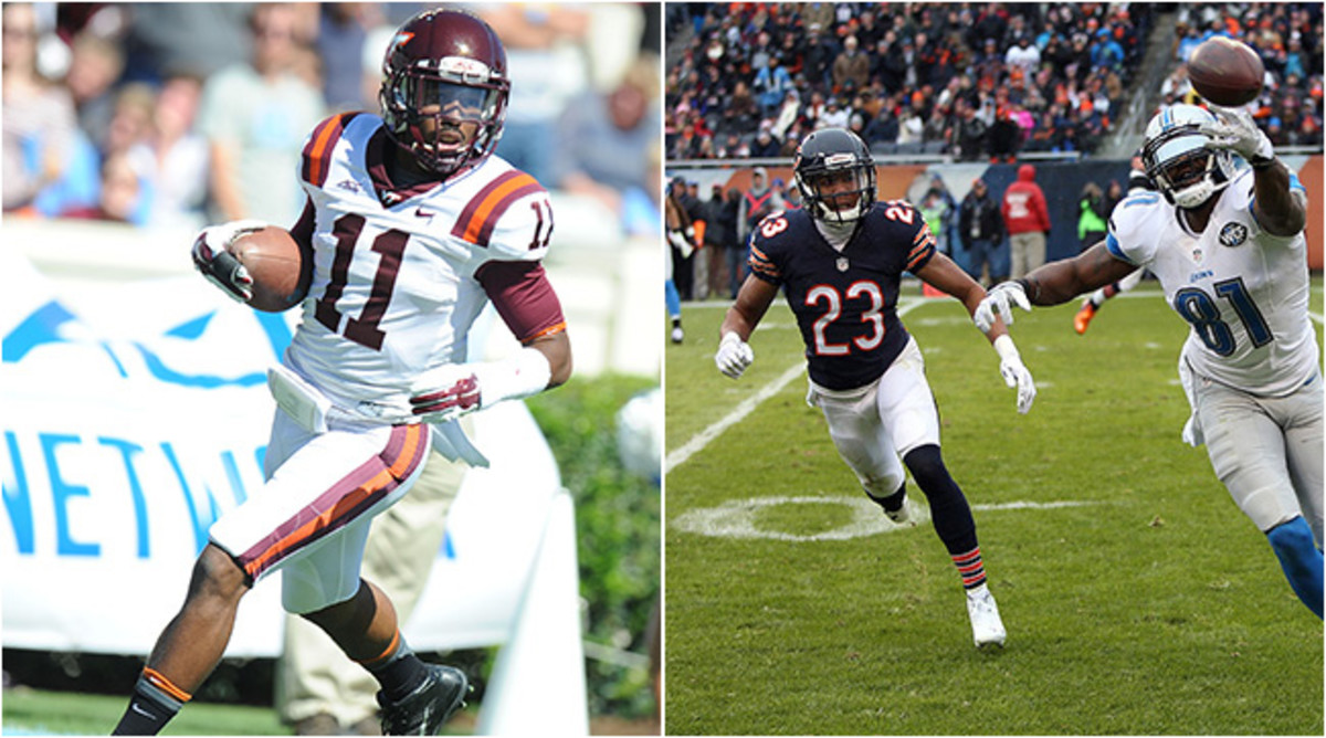Chicago may be in line to take Virginia Tech's Kendall Fuller (left) who would be reunited with his older brother Kyle (right).