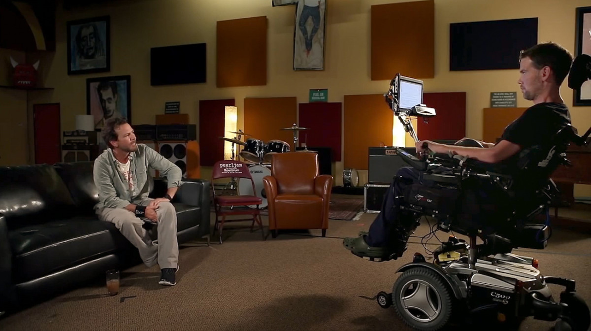 Eddie Vedder and Steve Gleason.
