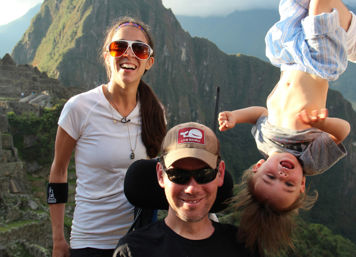 Michel, Steve and Rivers at Machu Picchu in Peru in 2013.