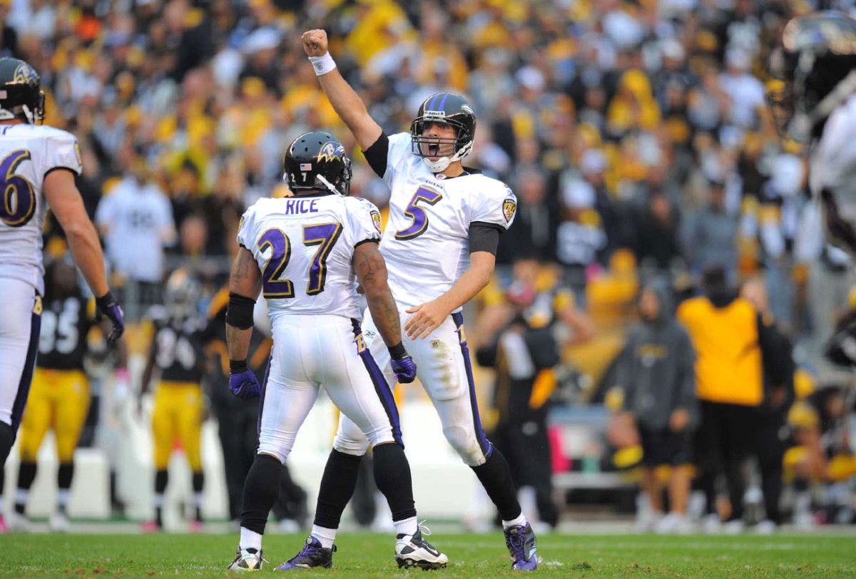 Joe Flacco feels good about the October 2010 matchup with Pittsburgh.