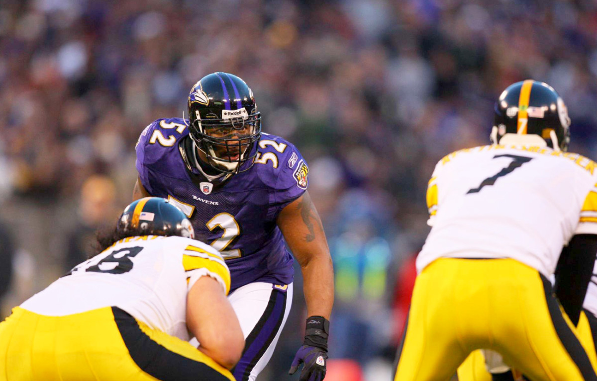 Ray Lewis eyes the prize, December 2008.