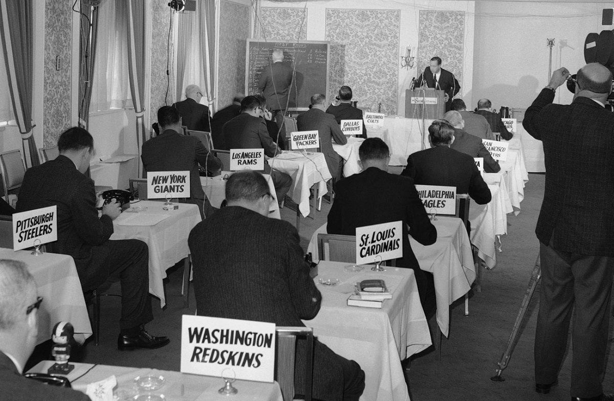 The NFL draft, '60s style.