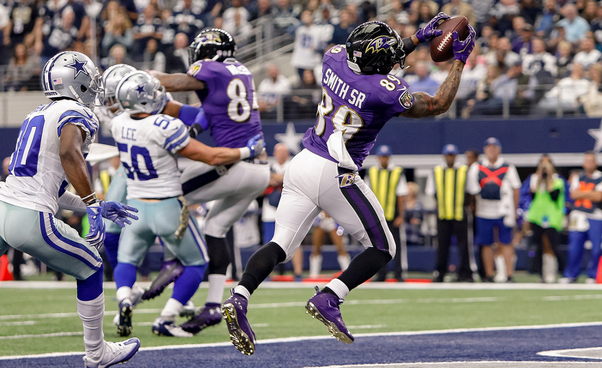 Steve Smith Sr. is the 14th player in NFL history with at least 1,000 career receptions.