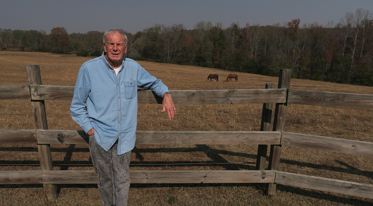 Former NFL coach Sam Wyche, on his property in Pickens, S.C.
