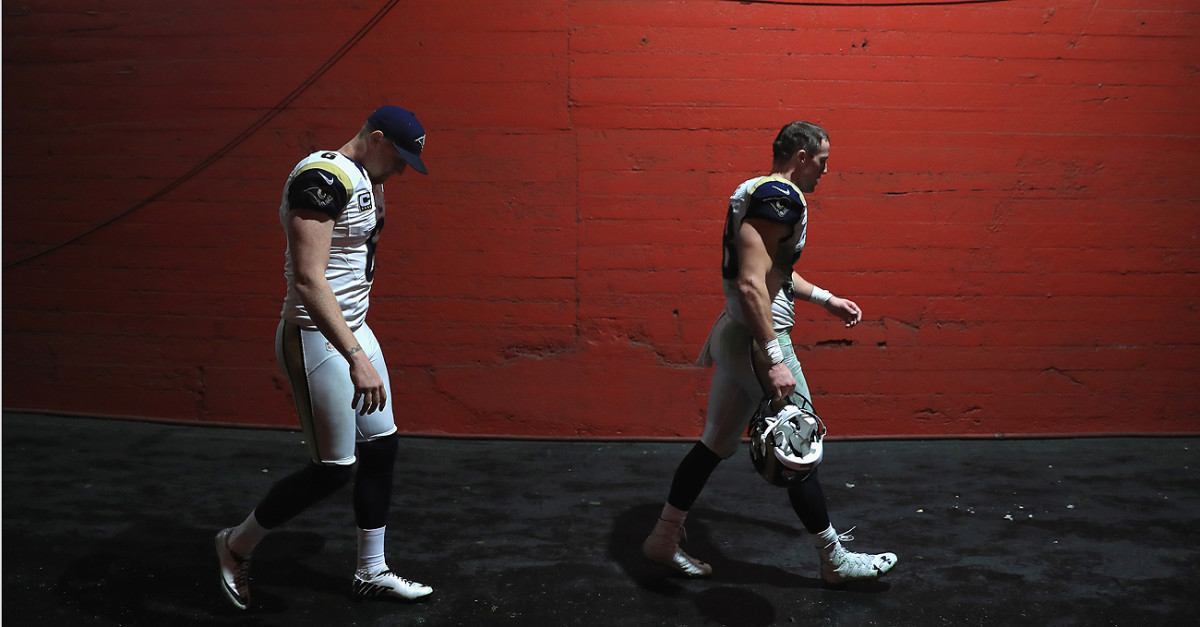It was a dark day for the Rams after they blew a 10-0 lead late in the fourth quarter to lose to the Dolphins.