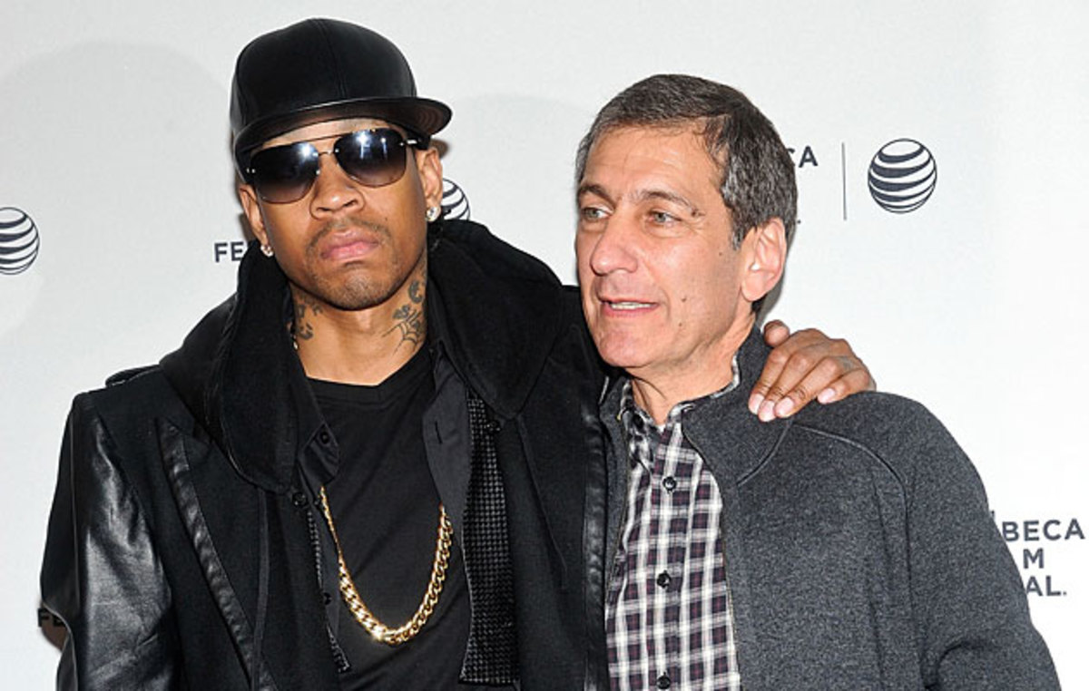 Mike Tollin (right) produced a documentary about Philadelphia 76ers legend Allen Iverson.