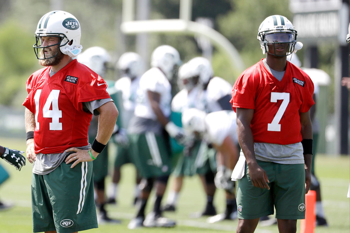 Fitzpatrick and Smith at camp on Thursday.