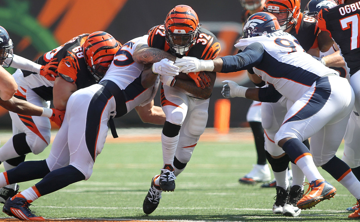 Jeremy Hill hasn't found much room to run in the early parts of the 2016 season.