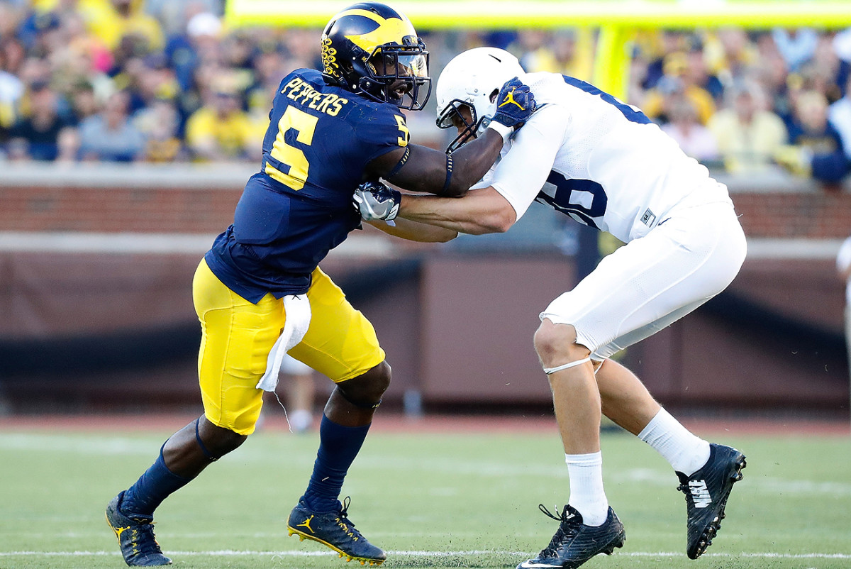 Michigan's Jabrill Peppers projects as a hybrid defensive back once he reaches the NFL.