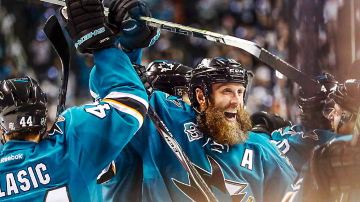 With seven assists in San Jose's 4-2 series win over St. Louis, Thornton advanced to his first Stanley Cup Final.
