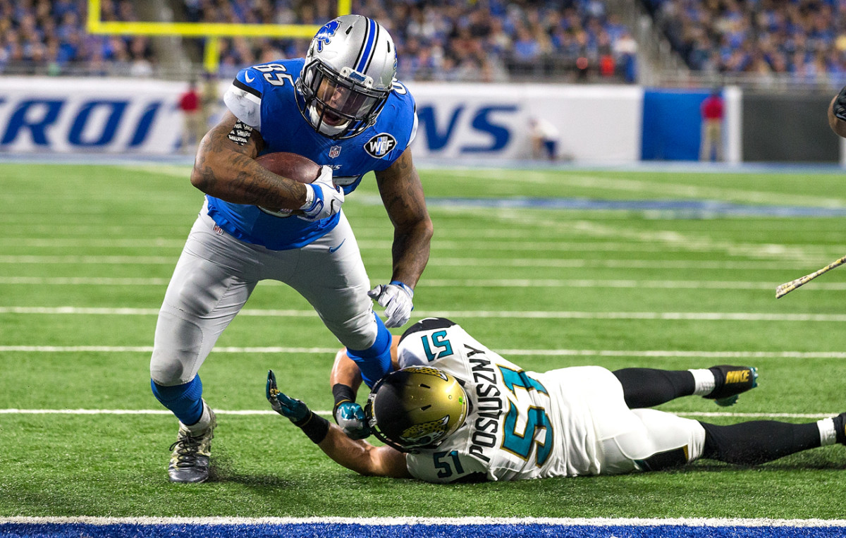 Absent Johnson, Eric Ebron and others are getting more chances close to the goal line.