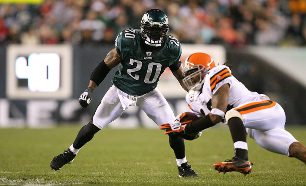 Eagles great Brian Dawkins, who retired in 2011, is one of a glut of game-changing safeties hoping to one day make it to Canton. (Hunter Martin/Getty Images)