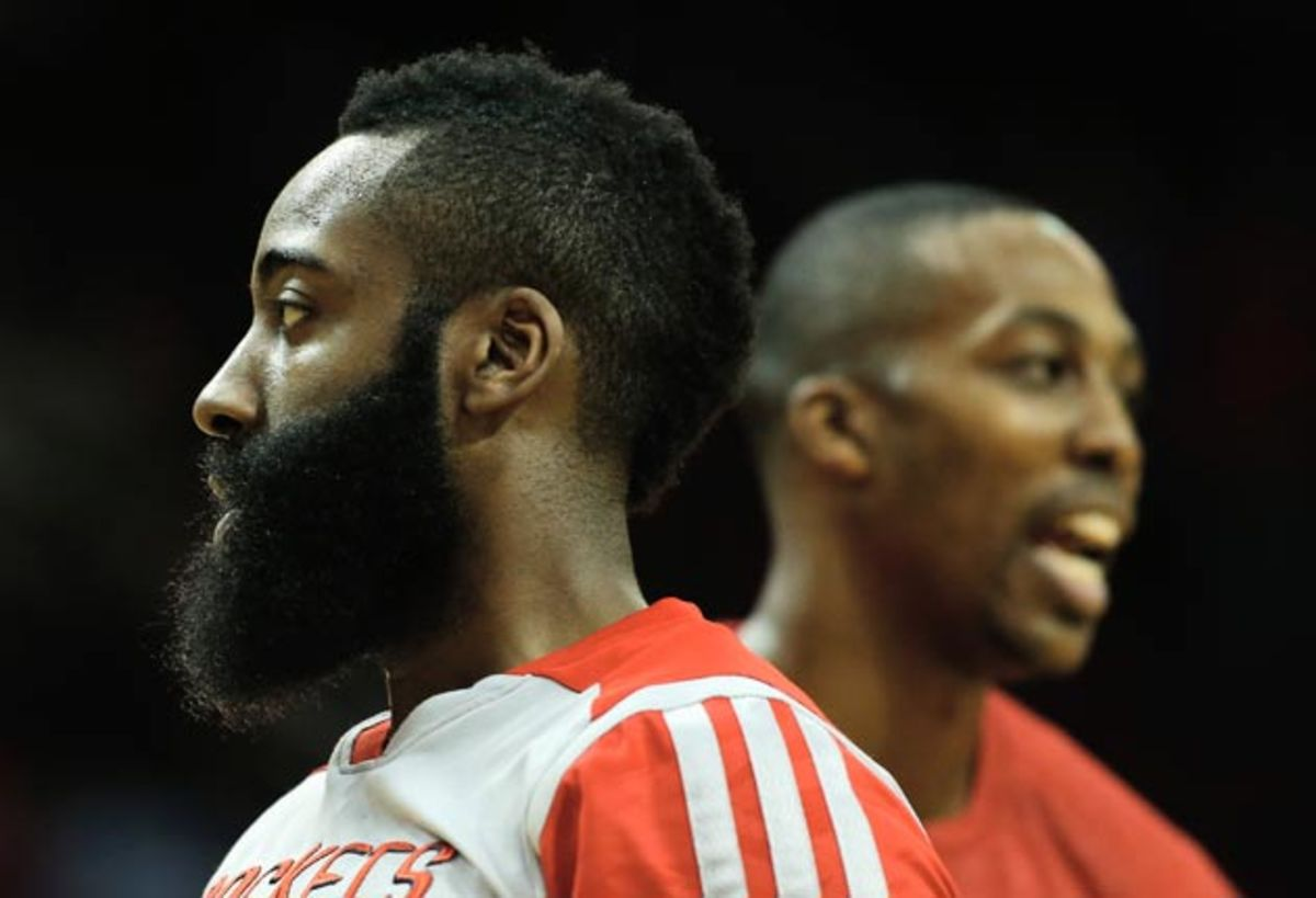 Harden face getty