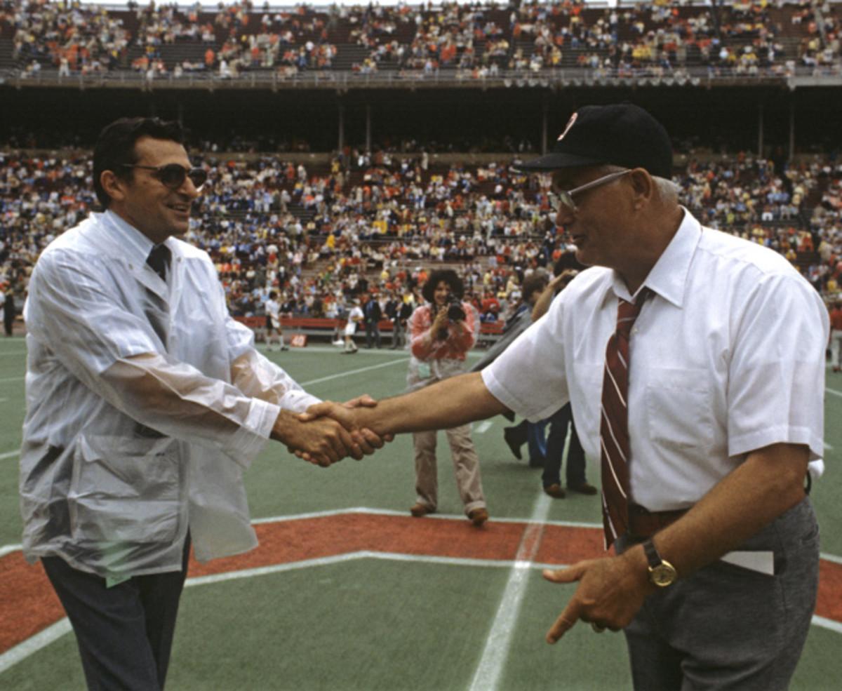 Woody Hayes and Joe Paterno