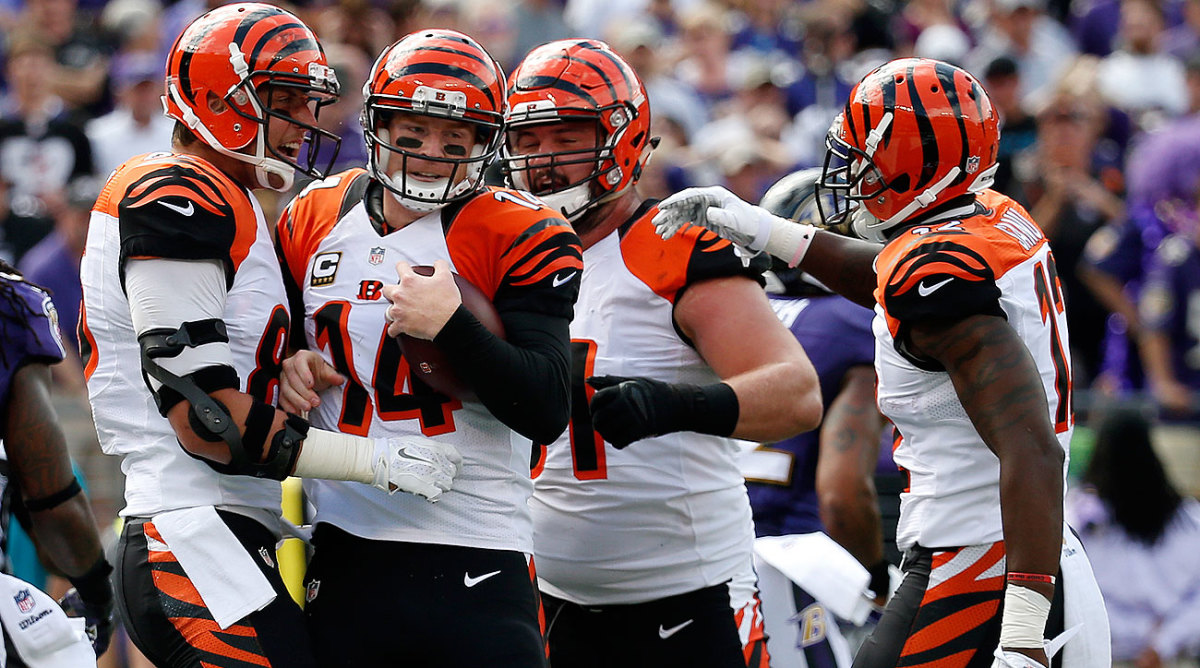 Andy Dalton and the Bengals are 3-0 for the second straight season. (Rob Carr/Getty Images)