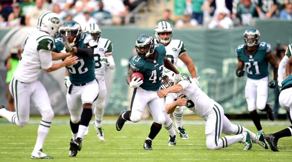The Eagles' Darren Sproles returned a punt for a touchdown against the Jets in Week 3. (Photo: Carlos M. Saavedra for Sports Illustrated)