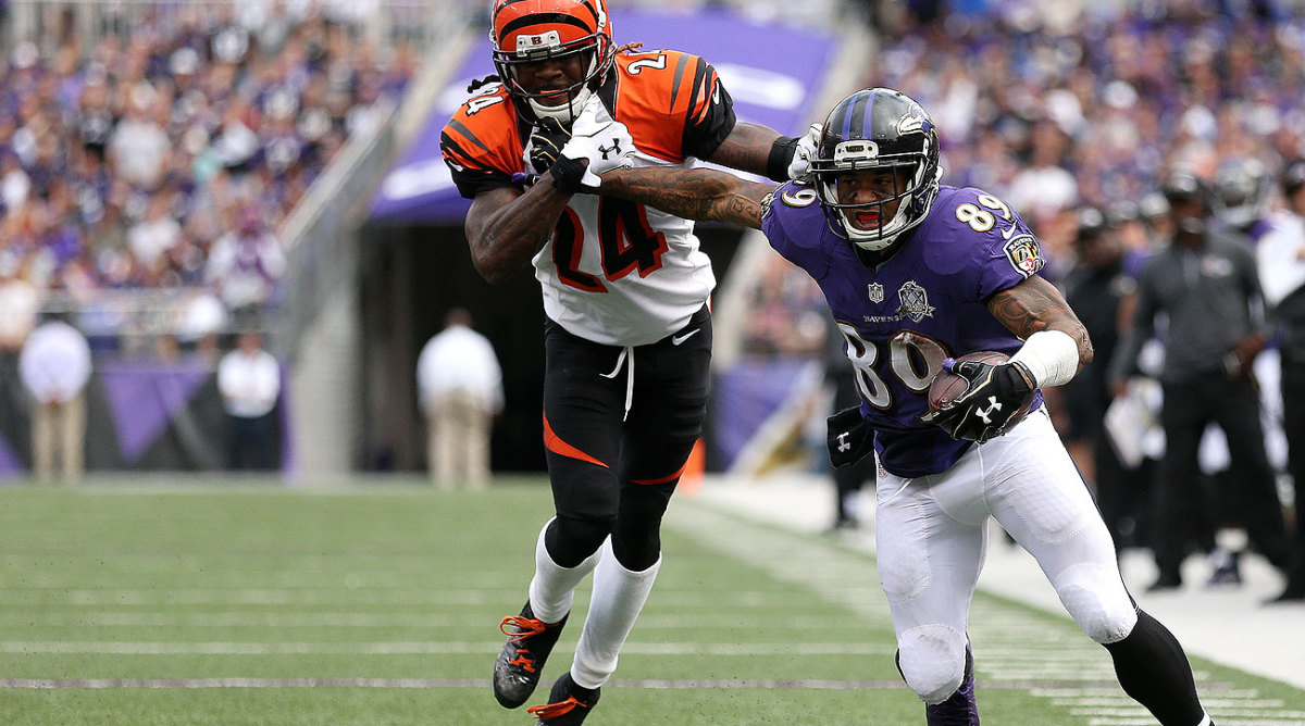 Steve Smith, at 36, is still one of the game's most physical receivers. (Patrick Smith/Getty Images)